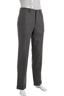 Brunello Cucinelli Grey Cotton Flat Front Cuffed Pants - Lyst