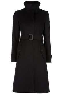 Burberry Funnel Neck Coat - Lyst