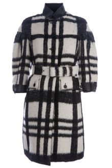 Burberry Prorsum Check Coat - Lyst