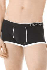Calvin Klein Ck One Microfiber Low Rise Trunk in Black for Men - Lyst