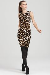 Calvin Klein Animal Print Dress with Zippers - Lyst
