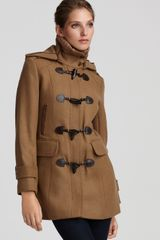 Cole Haan Zip Off Hooded Coat with Toggles - Lyst