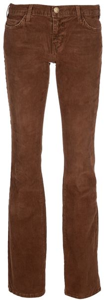 Current/elliott The Cowboy Cord Jean in Brown - Lyst