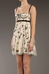D&g Printed Silk Dress in Beige (cream) - Lyst