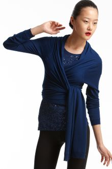 DKNY Silk and Cashmere Long-sleeved Cozy - Lyst