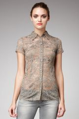 Dolce & Gabbana Lace Button-down Blouse - Lyst