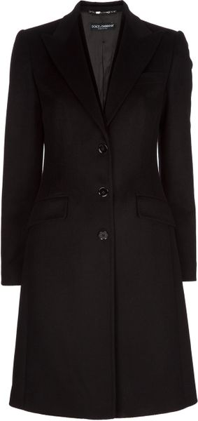 Dolce & Gabbana Single Breasted Coat in Black - Lyst
