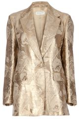 Dries Van Noten Metallic Blazer in Gold - Lyst