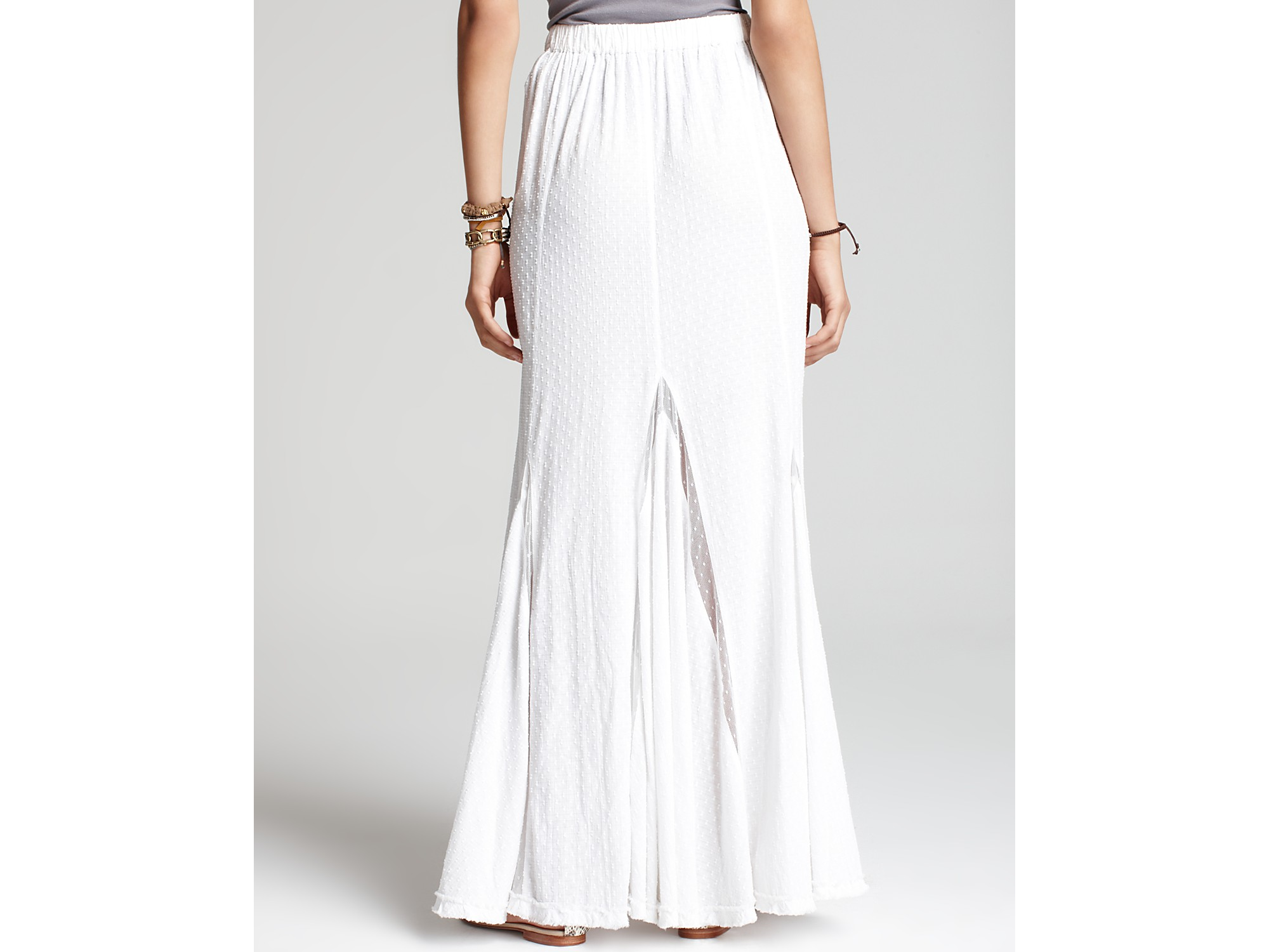 39518f8165 Free People Morning Glory Godet Skirt in White - Lyst