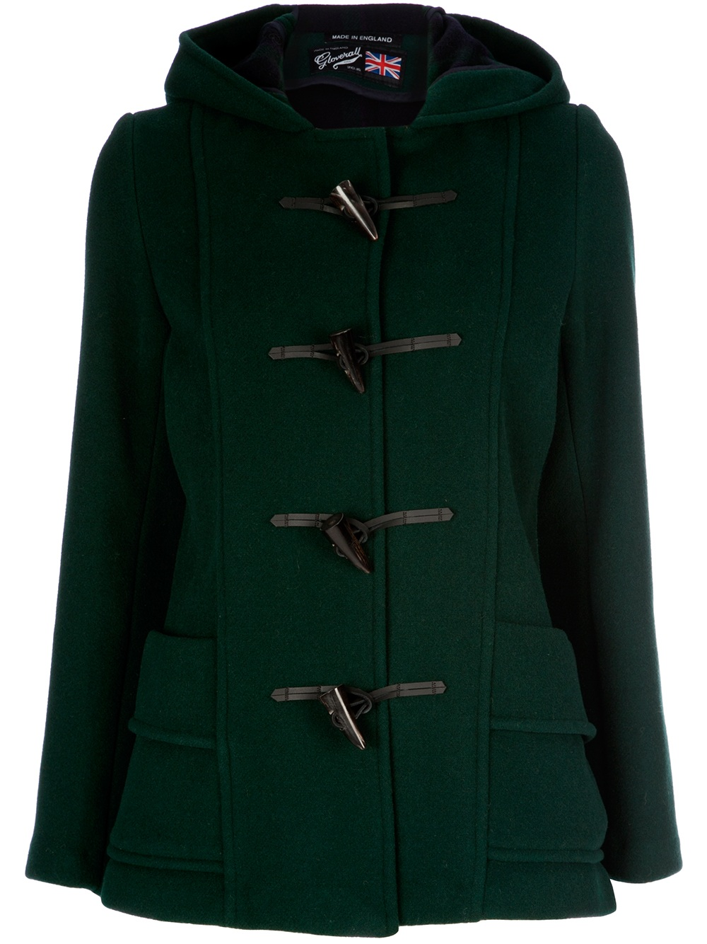 Gloverall Duffle Coat In Green Lyst