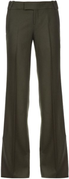 Gucci Flared Trouser in Green - Lyst