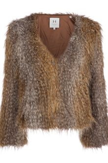 Halston Heritage Faux Fox Fur Coat - Lyst