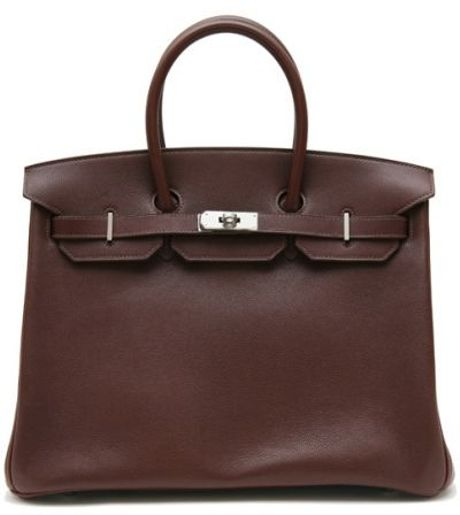 Hermes 35cm Havana Evergrain Birkin in Brown - Lyst