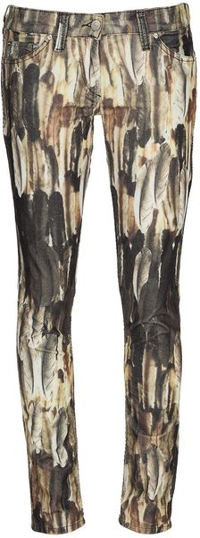 Isabel Marant Feather Print Jeans - Lyst