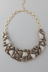 Kenneth Jay Lane Geo Collar Neck - Lyst