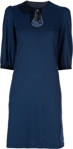 Labour Of Love Asymmetric Dress in Blue - Lyst