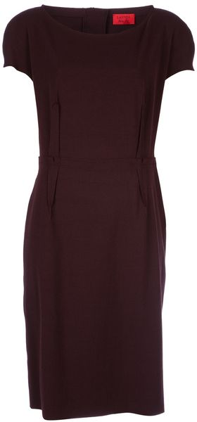 Lanvin Cap Sleeve Dress - Lyst