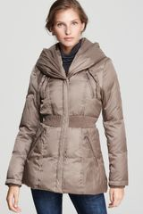 Laundry By Shelli Segal Ruched Short Down Coat - Lyst