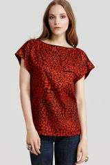Marc By Marc Jacobs Jungle Silk Short-Sleeve Top - Lyst