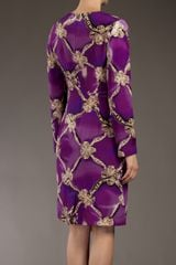 Mary Katrantzou Bow Print Dress in Purple (pink) - Lyst
