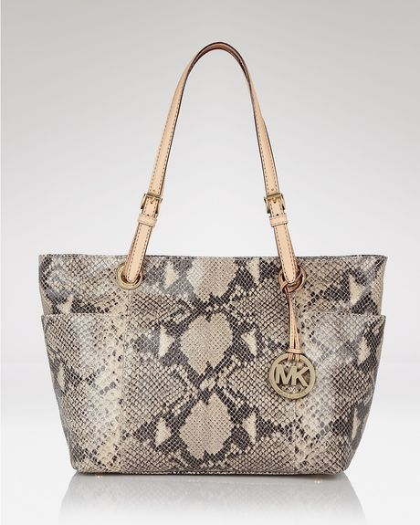 Michael Kors Jet Set Top Zip Tote in Beige (dark sand) - Lyst