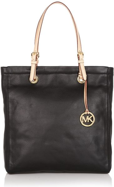 Michael Kors Jet Set Leather Tote in Black (luggage) - Lyst