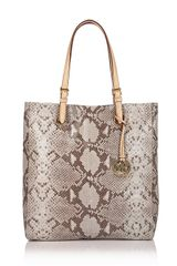 Michael Kors Michael Glazed Python-embossed Leather Item Tote - Lyst