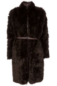 Mm6 X Opening Ceremony Faux Fur Coat - Lyst