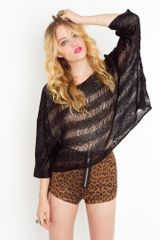 Nasty Gal Shredded Sequin Knit  - Lyst