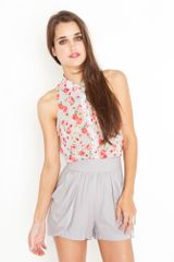 Nasty Gal Drape Pocket Shorts - Gray - Lyst