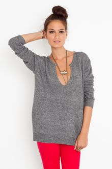 Nasty Gal Lets Split Knit - Lyst