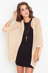 Nasty Gal Nothing But Knit Cardi - Lyst