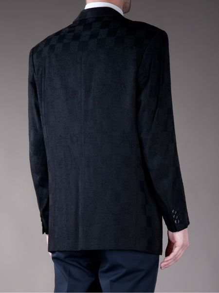 Paco Rabanne Vintage Pattern Jacket In Black For Men Lyst