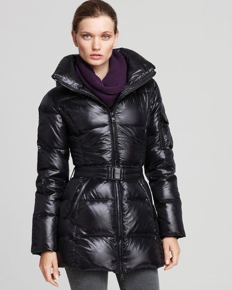 Sam Powder Puffer Coat In Black Army Lyst