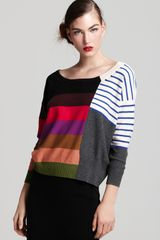 Sonia Rykiel Long Sleeve Justaposed Stripe Sweater - Lyst