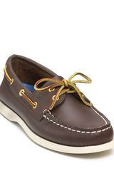 Sperry Top-sider A/o 2-eye Lace Leather Boat Shoes - Lyst
