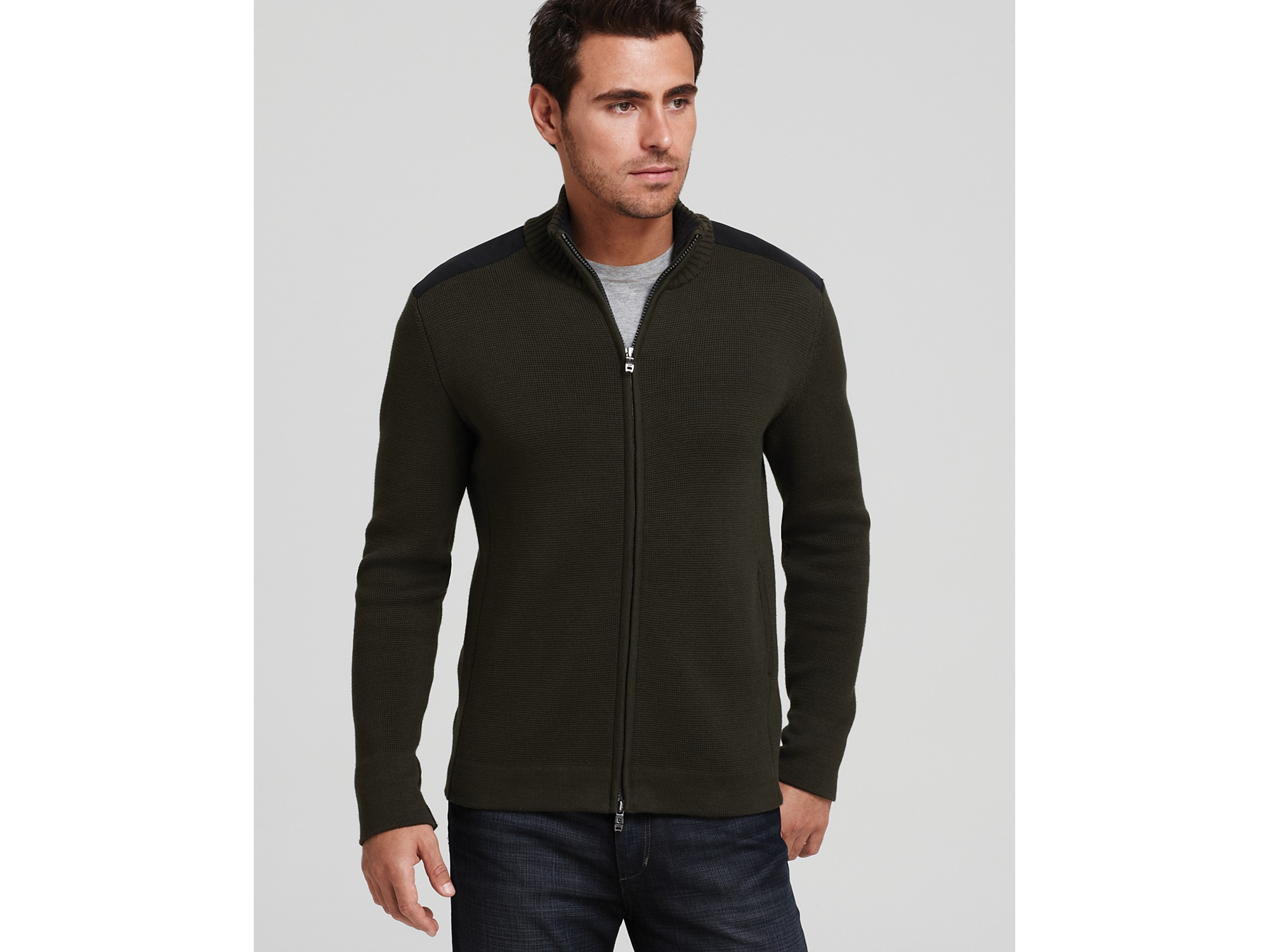 Victorinox Mahale Full Zip Cardigan in Black for Men | Lyst