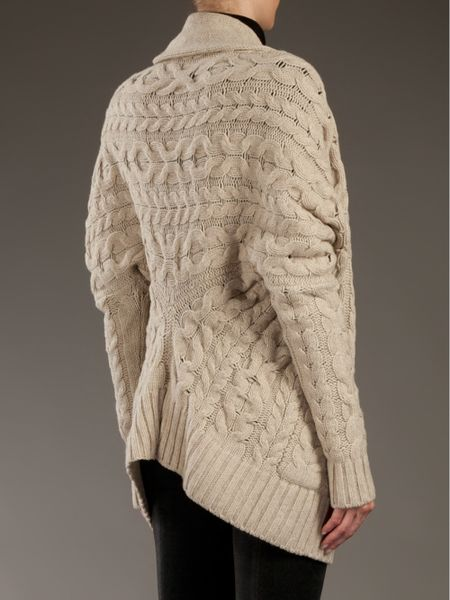 Vince Cable Knit Cocoon Cardigan In Beige Natural Lyst