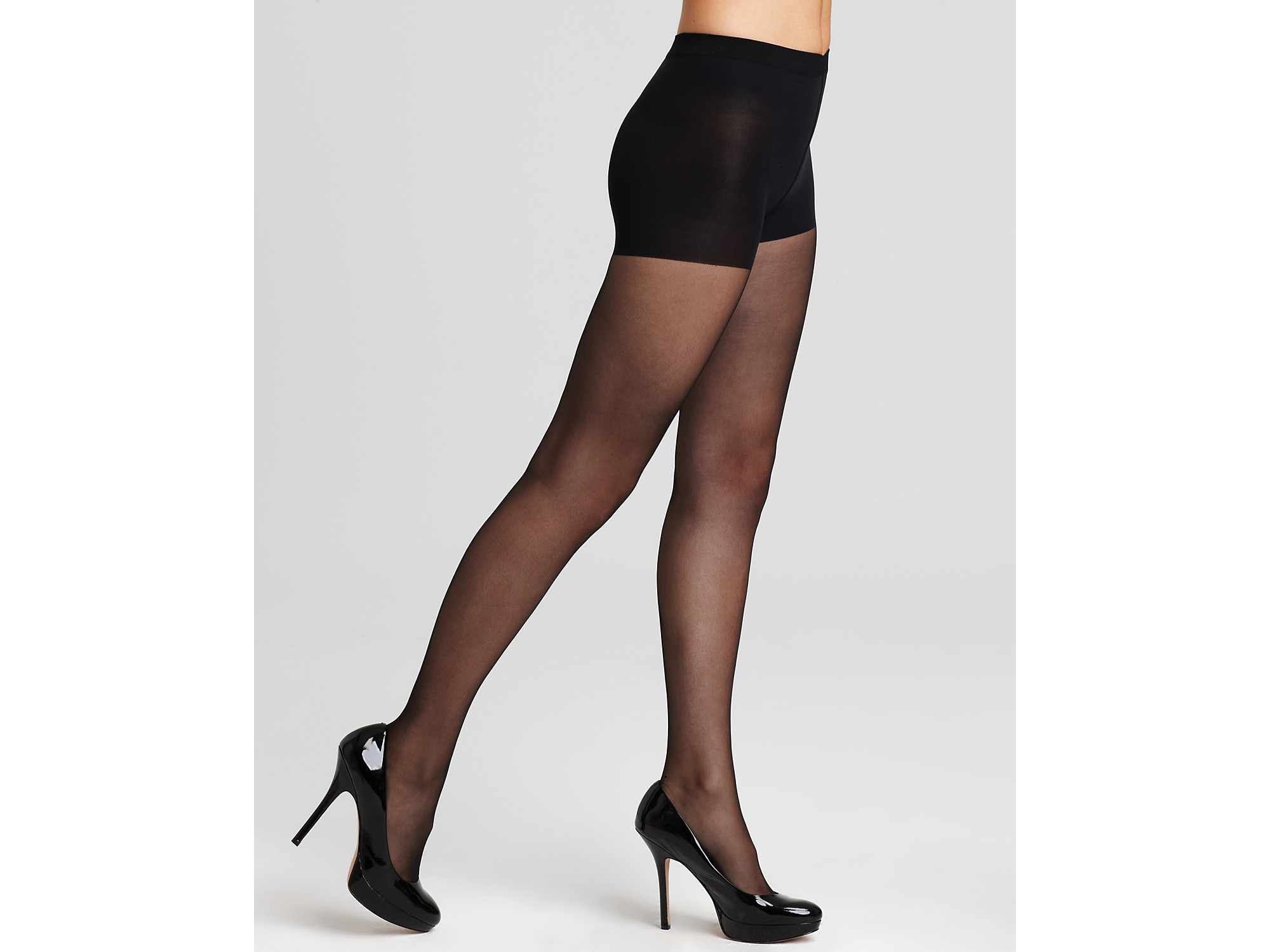 Wolford Individual 10 Soft Control Top Sheer Tights In -2594