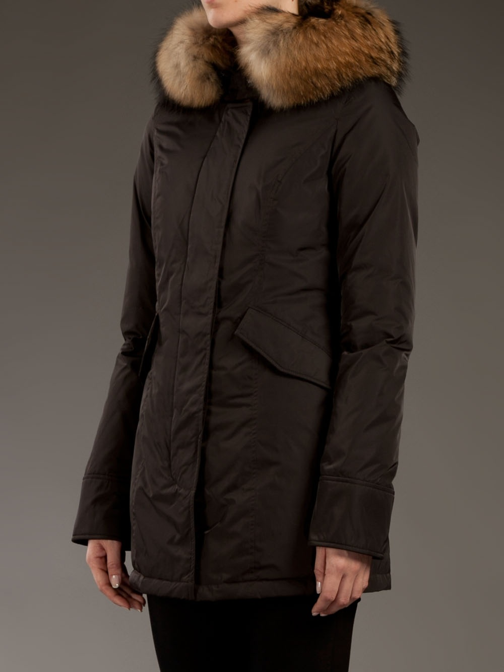lyst woolrich luxury arctic parka in brown. Black Bedroom Furniture Sets. Home Design Ideas