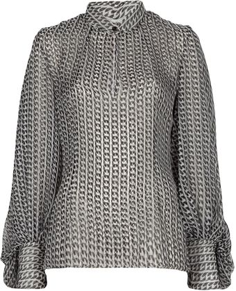 Yves Saint Laurent Paisley Blouse - Lyst
