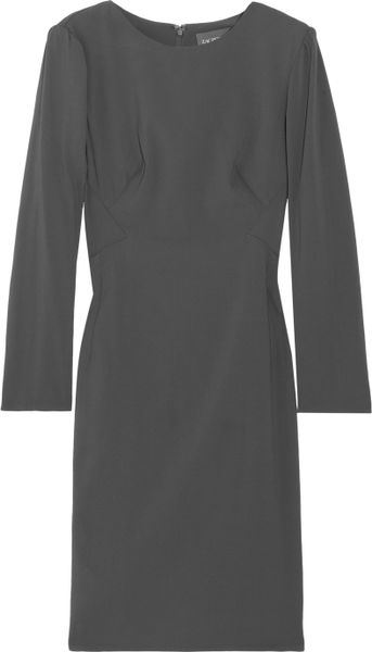 Zac Posen Stretchcrepe Dress in Gray - Lyst