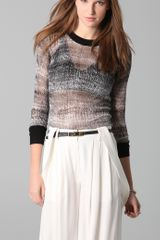 10 Crosby by Derek Lam Crew Neck Print Sweater - Lyst