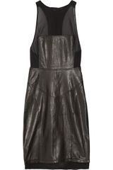 Alexander Wang Leather Racerback Dress in Black - Lyst