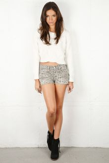 Current/Elliott Current/elliott Leopard Boyfriend Short in 2 Colors - Lyst