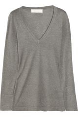 Donna Karan New York Metallic Cashmere-blend Sweater - Lyst