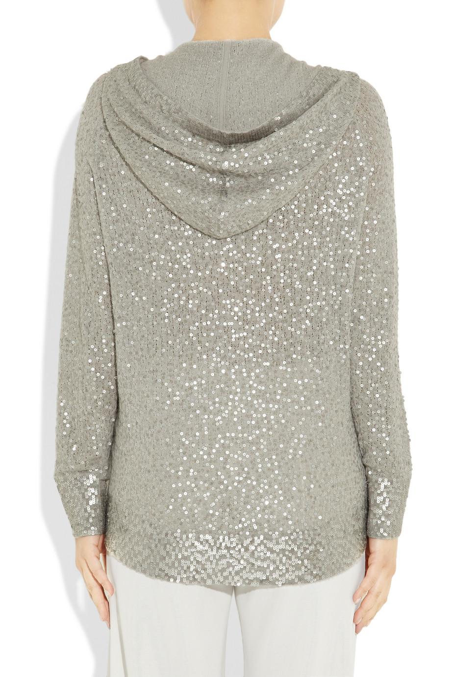 donna karan sequined cashmere and silk blend sweater in. Black Bedroom Furniture Sets. Home Design Ideas