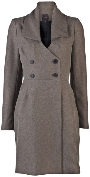 Jane Oh Double Breasted Coat - Lyst
