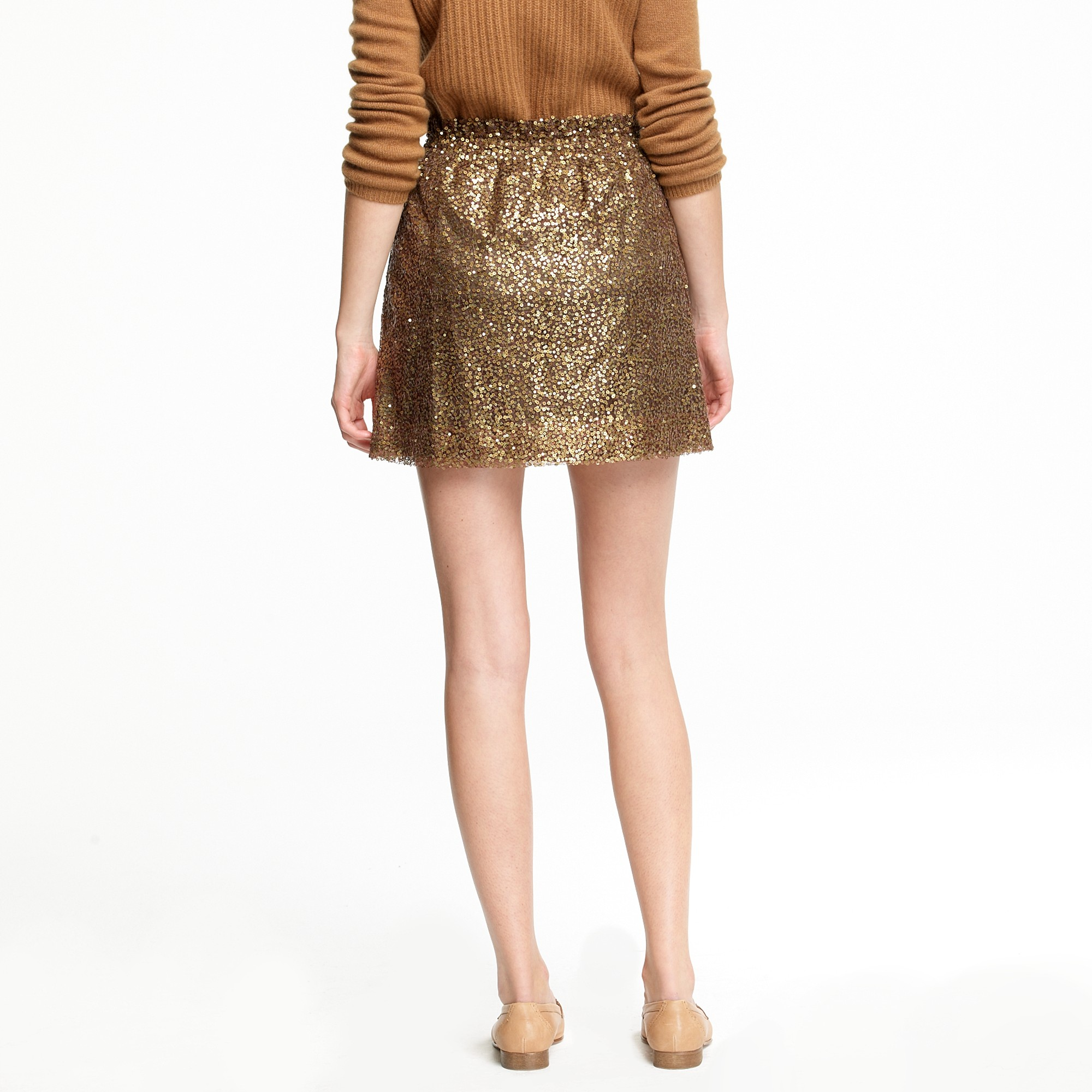 b82b327b10 J.Crew Sequin Mesh Bell Skirt in Metallic - Lyst