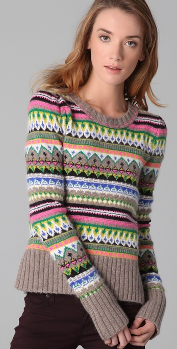 Juicy couture Bright Fair Isle Pullover | Lyst